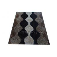 Wholesale Customized Black / Beige Polyester Shaggy Rug Carpet Latex Cotton Canvas Backing from china suppliers