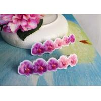 Wholesale Simple Design Girls Butterfly Hair Clips Jewelry Pink / Purple Color from china suppliers