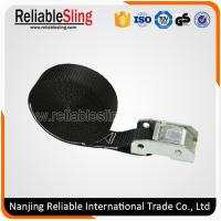 Wholesale 25mm Width Black Ratchet Lashing Cam Lock Buckle Strap / Polyester Webbing Sling from china suppliers