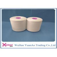 Wholesale 1.2DX38MM Fiber Raw White Spun Polyester Yarn / Core Spun Polyester Sewing Thread from china suppliers