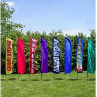 Wholesale Rectangle Full Color Decorative Beach Flags Hot Transfer Printing from china suppliers