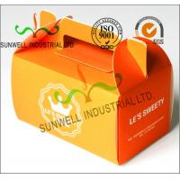Wholesale Offset Printing Corrugated Cardboard Food Food Serving Boxes Art Paper Top E Flute from china suppliers