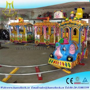 Wholesale Hansel kids electric amusement train rides kiddie amusement rides train from china suppliers