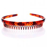 Quality Wholesale 2~3cm plastic hair bands black&brown color hair ornament for sale