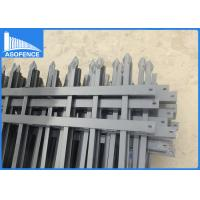 Quality Flat / Spear Top Security Fencing Panels For Private Grounds Corrosion Resistance for sale