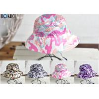 Quality Camouflage Printing Custom Caps Hats Nylon Fabric Floral Bucket Hat for sale
