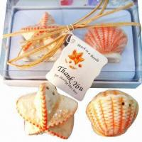 Buy cheap Ocean style fan shell and starfish-shaped salt and pepper shaker (wedding gift and sweet gift) from wholesalers
