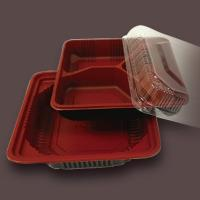 Buy cheap plastic food tray with 3 compartment from wholesalers