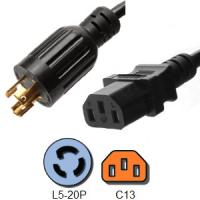 Wholesale 3 Wire IEC 60320 C13 Server Power Cord NEMA L5 20P RoHS Certification from china suppliers