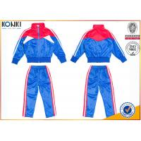 Buy cheap New school uniform design blue and red color 100% polyester custom school uniform for teachers and students from wholesalers