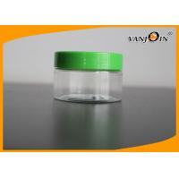 Wholesale Face Cream Use 100g/100ml Flat Style Clear Plastic Jar With Screw Cap from china suppliers