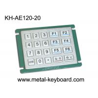 Quality IP65 Rated Water - proof Metal Numeric Digital Keypad in 5x4 Matrix 20 Keys for sale