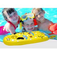 Quality Yellow Children's Air Bed Inflatable Beach Floating Swiming Surfboard Mattress for sale