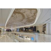 Wholesale 2.5MM PVDF Coating Luxury Gold Metal Ceiling Panels For Shopping Mall Commercial Building from china suppliers