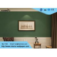 Wholesale Durable Non woven Wallpaper Removable Material with Dark Green Color from china suppliers