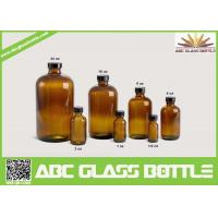 Wholesale 20/410 Neck 120ml Amber Boston Round Bottle With Phenolic Cap from china suppliers