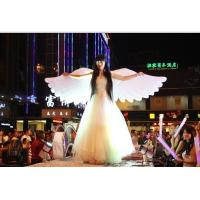 Wholesale 2m White Beautiful Perform Cloth Wearable Moving Inflatable Wing For Stage from china suppliers