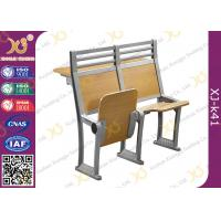 Wholesale Aluminium Frame Floor Mounded Classroom Desk And Chair Set For Students With Book Net from china suppliers