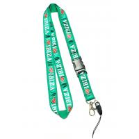 Wholesale Delicate Shiny Green Cell Phone Neck Lanyard With Love IBIZA Logo Safety Buckle from china suppliers