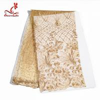 Wholesale Colorful Beaded Embroidered Lace Fabric For Indian Sarees OEM ODM from china suppliers
