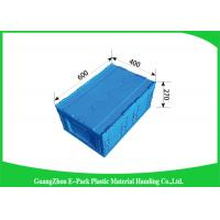Wholesale Attached Lids Collapsible Storage Crate , 45 L Industry Foldable Plastic Box from china suppliers