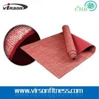 Quality Ningbo virson hot sale natural yoga mat/jute yoga mat for sale