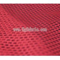 Quality red polyester fabric net knit fabric 75D DTY delicate art design mesh MF-059 for sale