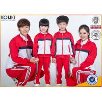 Wholesale Red and white color jacket design custom school uniform for sport meeting from china suppliers