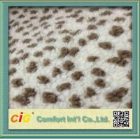 Polychrome Long Pile Artificial Fur  / Jacquard Faux  Fur Fabric For Garmant Toy or Home Textile