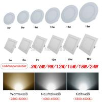 Wholesale A++ CREE 3 4 6 9 12 15 18 24W Round Square Panel Led Light Lampadas LED Wall Ceiling Downlight Lamp Environmentally from china suppliers