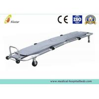 Wholesale Aluminum Alloy Emergency Rescue Folding Stretcher With Wheels And Handle , Safety Funeral Products from china suppliers