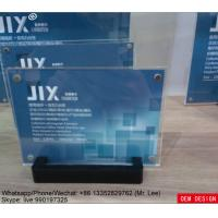 Wholesale Separate Clear Acrylic Photo Frames Magnetic Photo Picture Frame With Black Base from china suppliers