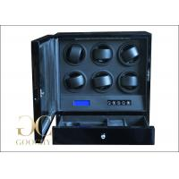 Wholesale Packaging Multi Watch Winder Box / Electronic Watch Winder 6 Watches + 1 Drawer from china suppliers