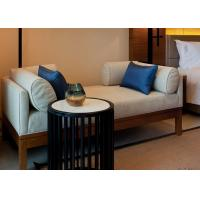 Wholesale Ivory Color Relax Fabric Upholstered Wooden Bench Seat With Hardwood Frame from china suppliers