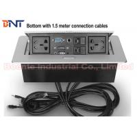 Wholesale 1.5 Meter Cables Desk Hidden Socket / Meeting Table Pop Up Electrical Outlet from china suppliers