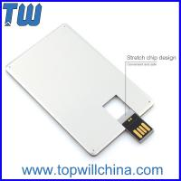 Wholesale Promotion Slim Metal Credit Card USB 16 GB Flash Drive High Printing Quality Best Price from china suppliers