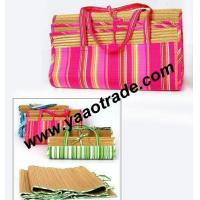 China Folding Straw Beach Mat on sale