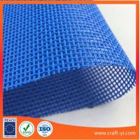 Wholesale Blue color Textilene is PVC Coated Polyester Mesh fabric for use in outdoor Venues from china suppliers