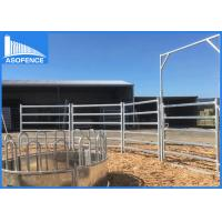 Wholesale Welded Wire Portable Livestock Fence Panels 6 Cattle Oval Rail Easy Handling from china suppliers