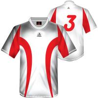 Wholesale White / Red Personalized Sublimated Football Jersey, Soccer Shirts With Clima from china suppliers