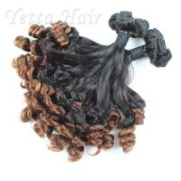 Wholesale Grade 9A Indian Funmi Human Hair , Beauty Curly Remy  Hair Extensions from china suppliers