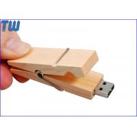 Wholesale Wooden Clothes Clip Durable Waterproof 2GB Thumbdrives Flash Disk from china suppliers