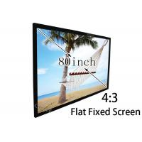 Wholesale 160 degree High Brightness 80'' 4 / 3 Flat Projection Screen With Black Velevt from china suppliers