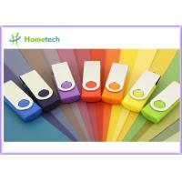 Wholesale 1GB Swivel USB Pen Drives Logo Printing / Engraving Metal Twist USB 1.1 / 2.0 Sticks from china suppliers