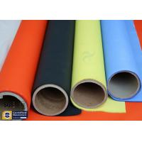 Wholesale Orange Acrylic Coated Fibreglass Fabric 500℉ 0.2MM 260G Chemical Flame Resistant from china suppliers