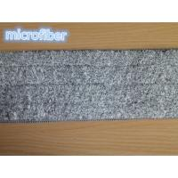 Wholesale 13*47Cm Grey Microfiber Wet Mop Pads Woven Coral Fleece Free Hand Washing from china suppliers