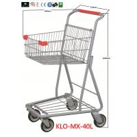 Quality Chrome Plating Grocery Shopping Trolley 40L / Supermarket Shopping Carts for sale
