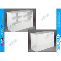 Wholesale OEM White Economy Commercial Display Cabinets Cases Full Vision from china suppliers