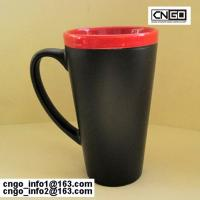 Wholesale hot sale the fashion big Chalk Mug free your hand wholesale16oz Ceramic Chalk Mugs cups from china suppliers
