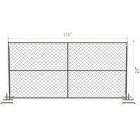 Wholesale 6ftx12FT Temporary Chain Link Fence Fabric Cross brace ,horizontal brace ,vertical barce chain mesh temp fence from china suppliers